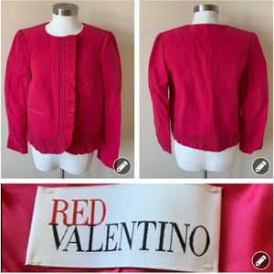 Red Valentino ruffle front jacket #7185